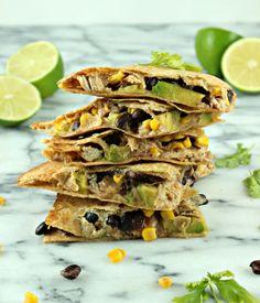 Chunky Avocado Quesadillas! delicious, quick, and healthy :)