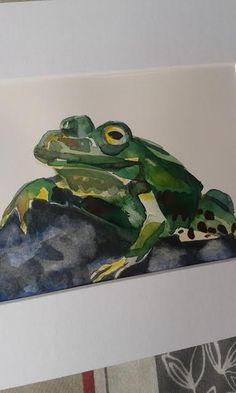 Herbert  original watercolour painting by Vicky by MyCoveArt