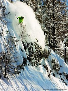 Warren Miller athlete Pep Fujas skiing in Krippenstein, Austria.