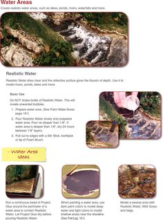 Modeling Water Features - School Project - How To Diorama - School Display