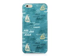 Sailboats at the Beach iPhone 6S, Nautical Phone Case, Summer Phone Case, Ocean Waves Phone Case, iPhone, Samsung Galaxy