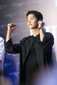My Song Joong Ki at Battleship Island press conference