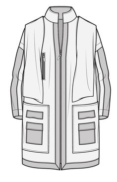 Clothing Sketches, Dress Sketches, Fashion Design Drawings, Fashion Sketches, Flat Sketches, Parka Style, Fashion Templates, Leather Jacket Outfits, Fashion Flats