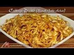 Cabbage Pickle (Bandh Gobhi Achar) - Manjula's Kitchen - Indian Vegetarian Recipes