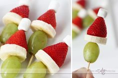 Grinch treats for a Grinch movie night.  This whole post is darling!