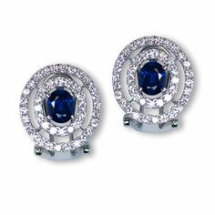And here is yet another lovely color gemstone earrings - Parris Jewelers Gemstone Colors, Gemstone Earrings, Diamond Engagement Rings, Sapphire, Jewels, Gemstones, Bijoux, Gems, Jewlery