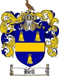 Bell Family Crest  / Bell Coat of Arms  copyright of www.4crests.com