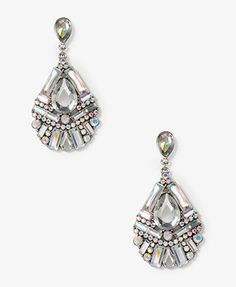 Bedazzled Teardrop Earrings | WITH AN ALL WHITE OUTFIT_ SHAZAM HOLOGRAPHIC STYLE