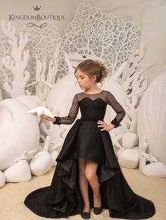 Items similar to Black Flower Girl Dress Birthday Wedding Party Holiday Bridesmaid Flower Girl Black Dress on Etsy Flower Girl Dresses Birthday black Bridesmaid Dress Etsy Flower Girl Holiday Items Party similar Wedding Girls Fashion Clothes, Girl Fashion, Girl Outfits, Fashion Dresses, Fashion Quiz, 2000s Fashion, Cheap Fashion, Fashion Tips, Girls Pageant Dresses