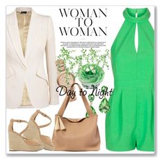 """Day to Night: Rompers"" by andrejae ❤ liked on Polyvore featuring Topshop, Alexander McQueen, Burberry, The Row, Dune, DayToNight and romper"