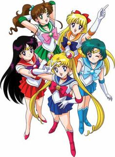 Sailor Moon, Sailor Mercury, Sailor Mars,Sailor Jupiter and Sailor Venus Sailor Jupiter, Sailor Venus, Sailor Mars, Sailor Moon S, Sailor Moon Crystal, Sailor Scouts, Magical Girl, Another Misaki Mei, Sailor Moon Personajes