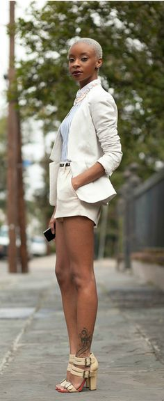 Platinum afro, legs for days. More proof that we can do anything with our #naturalhair and make it beautiful. (4) Tumblr