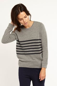 Striped Basic Sweatshirt