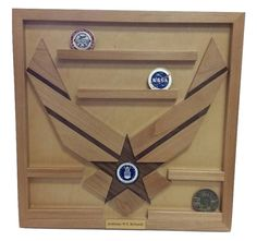Wall Mounted Air Force Challenge Coin Holder by WoodSimplyMade