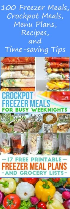100+ free resources for make-ahead meals, freezer meals, menu plans, recipes, ebooks, organizers, templates, printables and more, from 17 top bloggers. Free resources | Crockpot | Organization | Get organized | Free stuff