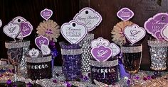 Lo Bosworth's 25th birthday!  {Dessert table signs & candy bar wrappers designed by Posh Pixels Design Studio LLC}