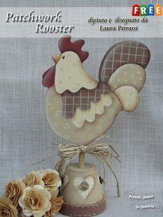 Cepillos, Love & Fantasia: Patrón Gratuito - Rooster Patchwork