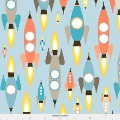 Space Rocket Fabric  Rockets By Heleenvanbuul  Rockets in