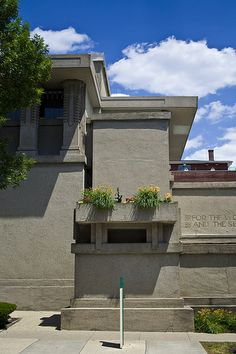 Unity Temple. Oak Park, Illinois. 1905-8. Frank Lloyd Wright.