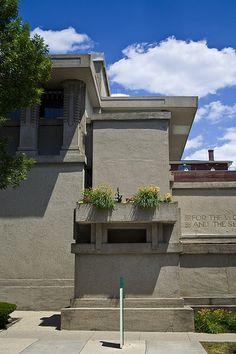 Unity Temple. Oak Park, Illinois. 1905-8. Frank Lloyd Wright.