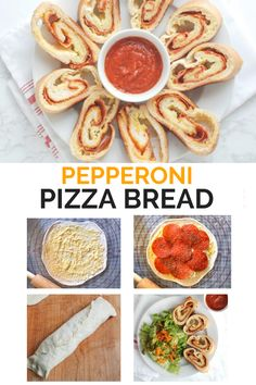 This crowd-pleasing Pepperoni Pizza Bread is easy to make and perfect for dinner, lunch boxes, or snacks. #realmomnutrition #pizzabread #pizzarecipes #kidfriendly #lunchboxideas Pizza Recipes, Bread Recipes, Quick Weeknight Meals, Lunchbox Ideas, Lunch Boxes, Pepperoni, Crowd, Tacos, Nutrition