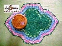 Edinir-Croche: toalha em croche modelo sextavada