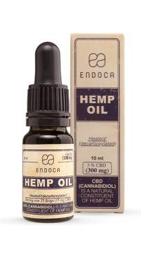 Endoca Hemp Oil Drops 300mg CBD (Cannabidiol)(3%)