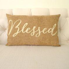 Burlap Pillow Idea