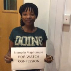 """""""@nompilokm has such a cute #popwatchconfession we knew she was a softie"""""""