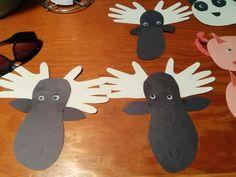 Moose daycare toddler craft
