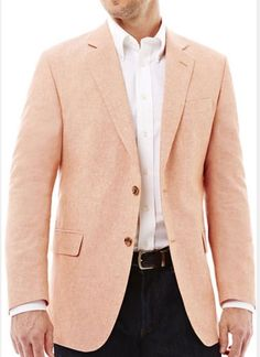 STAFFORD Stafford Linen Cotton Red Sport Coat-Big and Tall | The