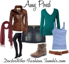 Amy Pond by doctor-who-fashion featuring studded booties