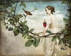 Anything can happen in a world that holds such beauty - Christian Schloe is a talented Chilean artist whose work includes digital art, painting, illustration, and photography. Camille Pissarro, Paul Gauguin, Illusion, Pop Surrealism, Weird Art, Strange Art, Gcse Art, Fantasy Illustration, Artist Gallery