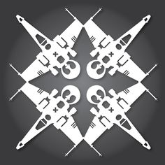 X-wing snowflake template