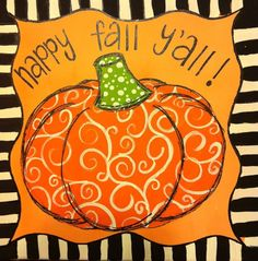 Pumpkin Fall Canvas by WHIMSYandSWEET on Etsy,