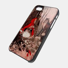 LITTLE RED RIDING HOOD IN THE WOOD for iPhone 4/4s/5/5s/5c, Samsung Galaxy s3/s4 case