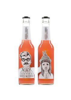 Flaschen | Kunde: Sechzisch Vierzisch (Geschäftsinhaber: Patrick Lohmann) | Umsetzung: AiLaike Natural Beverages in Kooperation mit Mathilda Mutant
