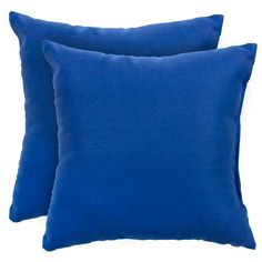 Add a touch of contemporary style and comfort to your outdoor furnishings with these accent pillows. These pillows are overstuffed with a soft 100-percent polyester fill and have a durable weather resistant and UV protected cover.