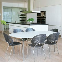 Kitchen with the Trinidad Chair http://www.danishdesignstore.com/products/trinidad-dining-chair-by-nanna-ditzel-manufactured-under-license-in-denmark-by-fredericia-furnitur