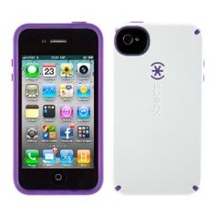 Speck CandyShell case in White/Purple.. $20 total (including shipping) from Amazon.  LOVE!