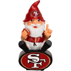 San Francisco 49ers Gnome Christmas Tree Ornament San