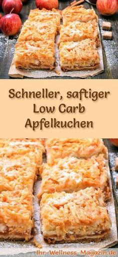 Fast, juicy low-carb apple pie - recipe without twitch .- Schneller, saftiger Low-Carb-Apfelkuchen – Rezept ohne Zucker Recipe for a juicy low carb apple pie – low in carbohydrates, reduced in calories, without sugar and flour - Low Carb Apple Pie Recipe, Apple Pie Recipes, Apple Pies, Pizza Recipes, Low Carb Cheesecake, Cheesecake Recipes, Dessert Recipes, Recipes Dinner, Drink Recipes