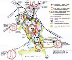 Making strategic connections extract from; Leeds City Council Beeston Hill & Holbeck Land Use Framework: Towards a more sustainable community (Leeds City Council, Leeds). Urban Design Concept, Urban Design Diagram, Landscape Diagram, Landscape Plans, Bubble Diagram Architecture, Architecture Diagrams, Urbane Analyse, Site Analysis Architecture, Landscape Architecture Drawing
