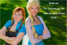 Invite Ice Princess and Nordic Princess to Frozen Kids Party!