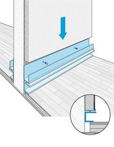 The integrated reveal base enables the straightforward creation of the revealed wall base detail.