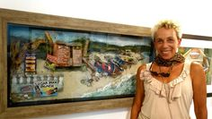Visual artist Inansi reknown in Jamaica for her artworks with stones. | Experience Jamaique