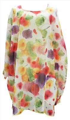 AKH Fashion Lagenlook überweite Tunika Kaftan in apfelgrün Übergrößen bei www.modeolymp.lafeo.de