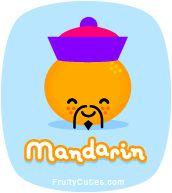 Mandarin kawaii fruit jokes