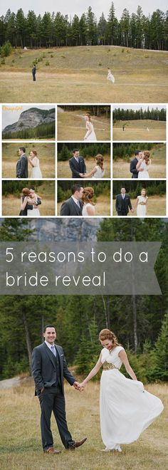 5 reasons why choosing to do a bride reveal may be right for your wedding day. #bridereveal #firstlook