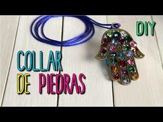 Collares de Moda - Collar de Piedras y Cristales - DIY fácil paso a paso - YouTube